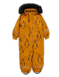 Mini Rodini AW19 Kebnekaise Penguin Overall Brown