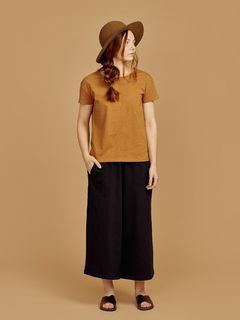 Mainio SS20 Women's Slub Shirt Bone Brown