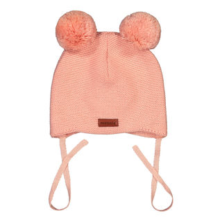 Metsola SS20 Cotton Knitted Baby Beanie 2 Pom Pom Powder Puff