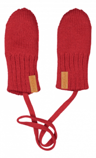 Gugguu AW18 Knitted Baby Mittens Salsa