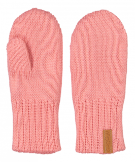 Gugguu AW18 Knitted Children Mittens Soft Coral