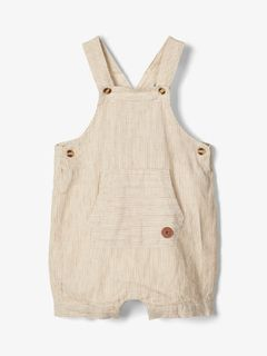 Name It Nbmfasan Shorts Overall Bone Brown