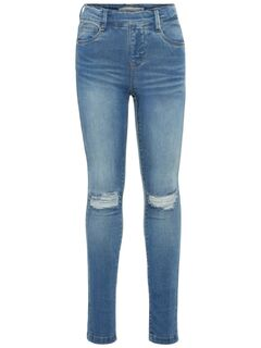 Name it Nkfpolly Dnmtora 2077 Legging Noos Medium Blue Denim