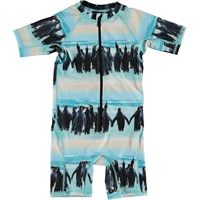 Molo Kids SS20 Neka Penguin Stripe Swimsuit