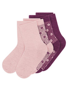 Name It Nmfwak Wool 4 Pack Sock Woodrose