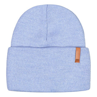 Metsola AW19 Knitted Rib Beanie Folded Cool Blue