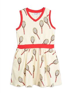 Mini Rodini SS20 Tennis Aop Tank Dress Offwhite