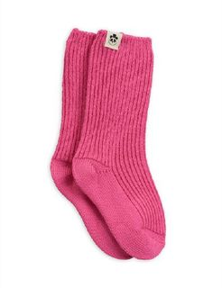 Mini Rodini AW19 Wool Sock Pink