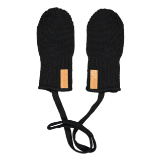 Gugguu SS18 Knitted Baby Mittens Black