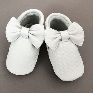 For Minis And Mommies Braids White Moccasins