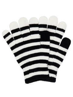 Name It Nkmmagic Glove Stripe Black