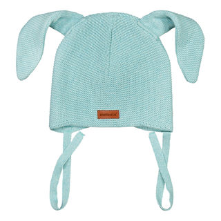 Metsola SS20 Cotton Knitted Baby Beanie Bunny Fairy Aqua
