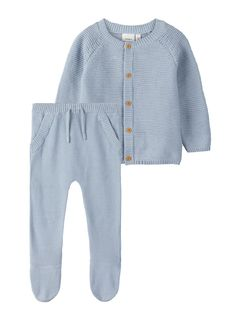 Name It Nbnnevan Knit Giftbox Blue Fog