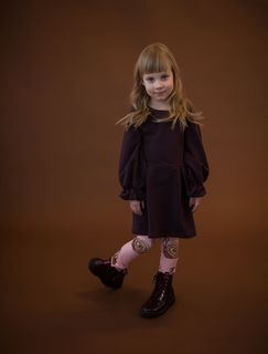 Blaa AW19 Porgera College Dress Chocolate Truffle