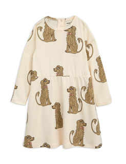 Mini Rodini AW18 Spaniel LS Dress Off White -Mekko