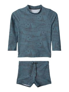 Name It Nmmflips Swim Set Goblin Blue