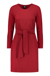 Kaiko AW19 Woman Belted Dress LS Red