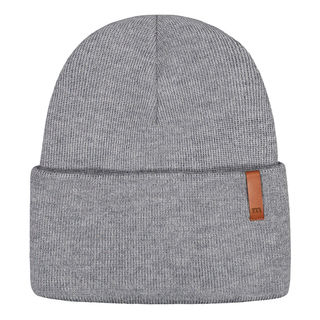 Metsola SS20 Cotton Knitted Rib Beanie Folded Grey Melange