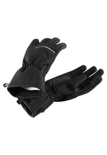 Reima AW19 Eidet Softshell Gloves Black