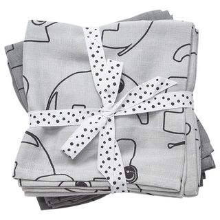 Done by Deer Burp Cloth Contour Grey Harsosetti