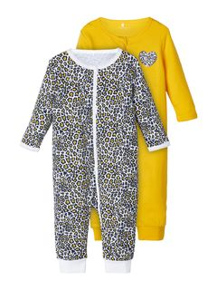 Name It Nbfnightsuit 2P Zip Golden Rod Noos