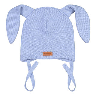 Metsola AW19 Knitted Bunny Beanie Cool Blue