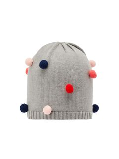 Name It Nmfmis Pompom Hat Grey Melange