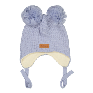 Gugguu AW18 Double Tuft Hat With Ear Flaps Arctic Ice