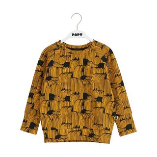 Papu AW19 Maxi Sweatshirt Hold Your Horses Earth Orche/Black