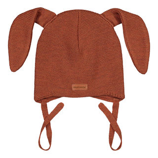 Metsola AW19 Knitted Bunny Beanie Roasted Pecan