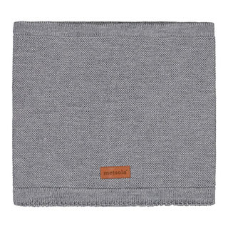 Metsola SS20 Cotton Knitted Classic Tube Scarf Grey Melange