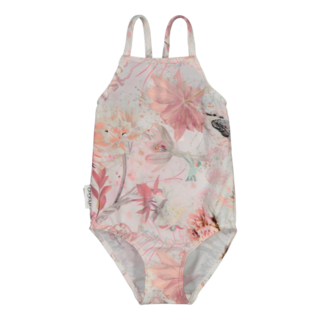 Gugguu SS20 Print Swimsuit Pink Hummingbirds