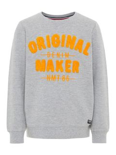 Name It Nkmbarur LS Sweat Unb Grey Melange Collegepaita