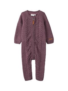 Name It Nbfwrilla Wool Ls Knit Suit Noos Xix Black Plum