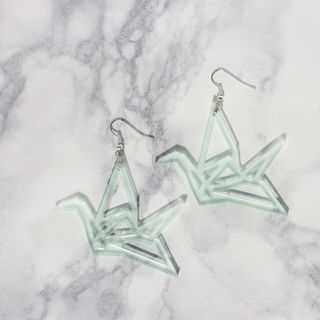 Yo Zen Swan Earrings Mint