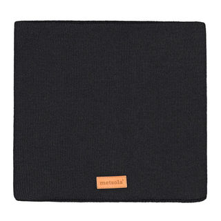 Metsola SS20 Cotton Knitted Rib Tube Scarf Black