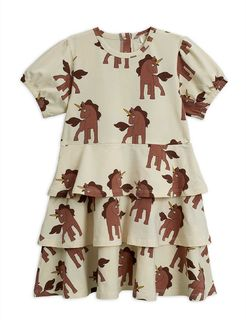 Mini Rodini SS20 Unicorns Aop SS Dress Offwhite