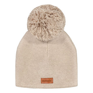 Metsola SS20 Cotton Knitted Classic Beanie 1 Pom Pom Bombay