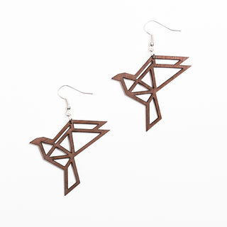 Yo Zen Dove Earrings Walnut