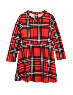 Mini Rodini AW18 Check Dress Red