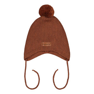 Metsola AW19 Knitted Baby Mini Hat Roasted Pecan