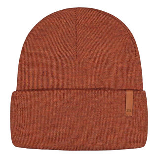Metsola AW19 Knitted Rib Beanie Folded Rousted Pecan