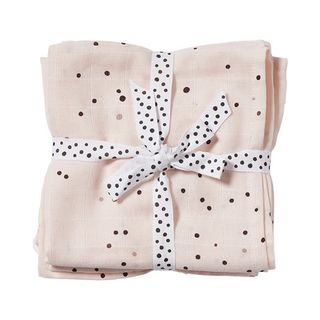 Done By Deer Burp Cloth 2-pack Dreamy Dots/ Powder
