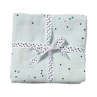 Done By Deer Burp Cloth 2-pack Dreamy Dots/ Blue