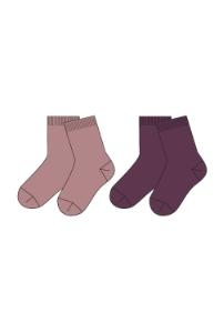 Name It Nitwak Wool 2 Pack Sock Woodrose/Prune Purp