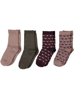 Name It Nitwak Wool 4 Pack Sock Woodrose