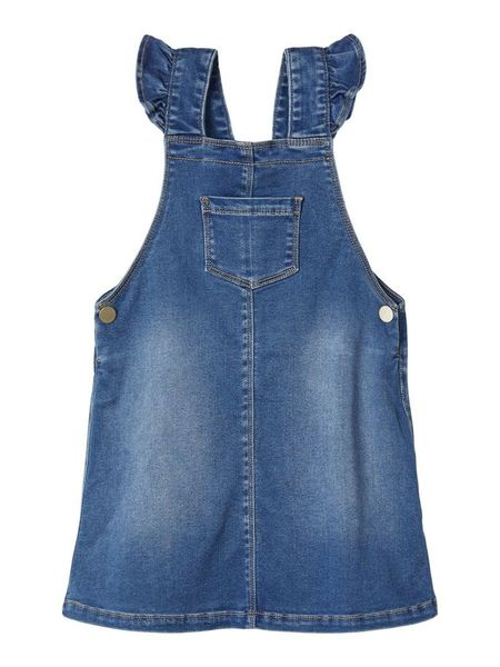 Lil' Atelier Gtora Dnm Bib Skirt Medium Blue Denim