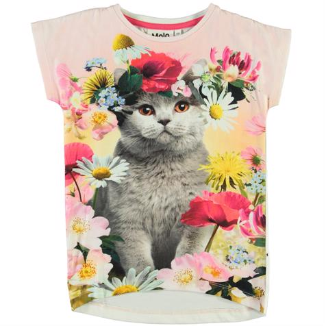 Molo Kids Ranghilde T-paita, Flower Cat