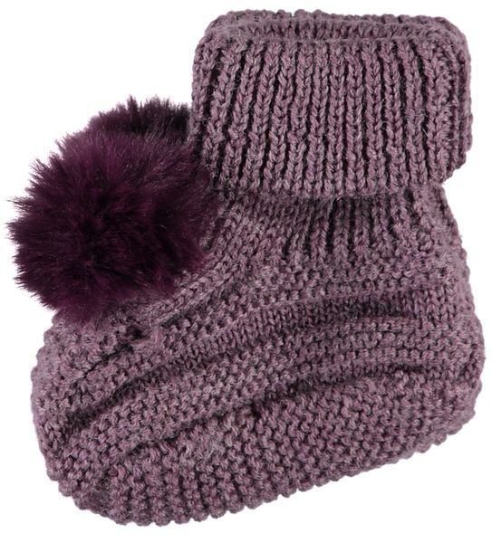 Name It Nbfwrilla Wool Knit Slippers Dot Black Plum