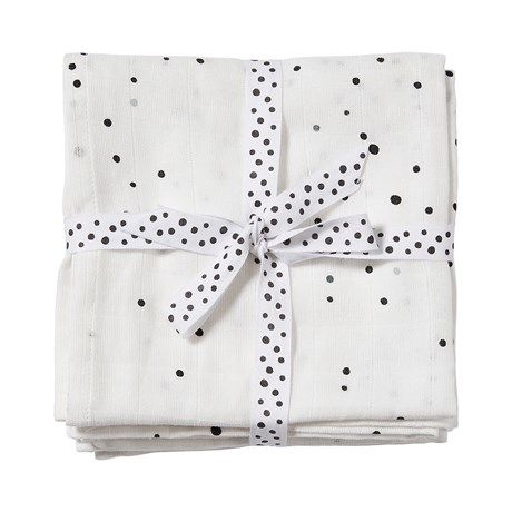 Done By Deer Burp Cloth 2-pack Dreamy Dots/White